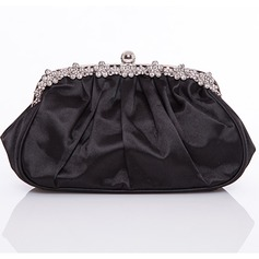 Charming Satin With Ruffles Clutches/Evening Handbags