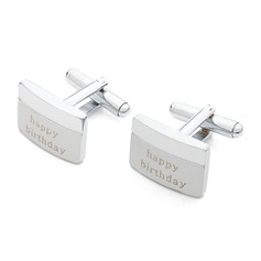 Personalized Classic Stainless Steel Cufflinks (2 Pieces) (129061746)