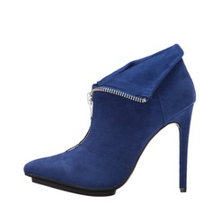 Women's Suede Stiletto Heel Ankle Boots shoes