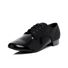 Men's Leatherette Heels Modern With Lace-up Dance Shoes