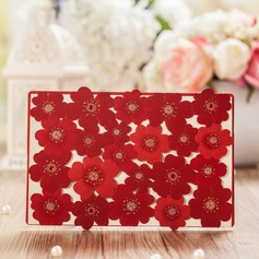 Floral Style Top Fold Invitation Cards