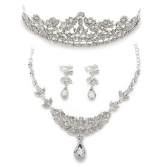 Leaves Shaped Alloy/Rhinestones Ladies' Jewelry Sets