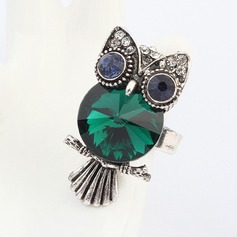 Cute Owl Alloy With Imitation Crystal Ladies' Fashion Rings