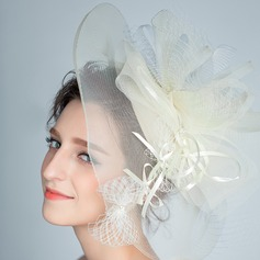 Elegant Rhinestone/Net Yarn Fascinators