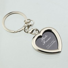 Personalized Heart Shaped Zinc Alloy Keychains/Photo Frame