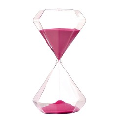5 Minutes Beautiful Glass Hourglass (Sold in a single piece)