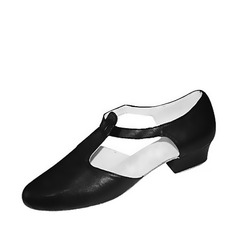 Women's Real Leather Heels Flats Ballroom Practice Dance Shoes