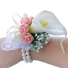Blooming Foam/Lace Wrist Corsage