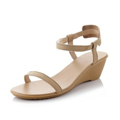 Women's Real Leather Wedge Heel Sandals Slingbacks shoes