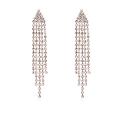 Classic Crystal/Gold Plated Ladies' Earrings