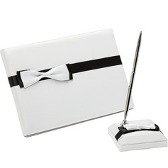 Simple Bow Guestbook & Pen Set
