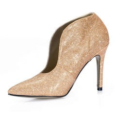 Sparkling Glitter Stiletto Heel Ankle Boots shoes