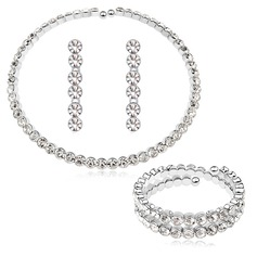 Sparking Alloy/Crystal/Platinum Plated Ladies' Jewelry Sets