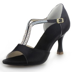 Satin Heels Latin Dance Shoes