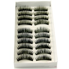 Manual Looking Curved Lashes 1028# - 10 Pairs Per Box
