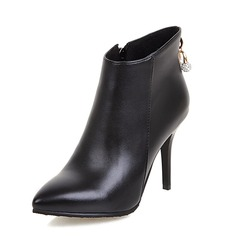 Women's Leatherette Stiletto Heel Ankle Boots shoes