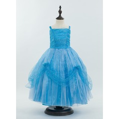 Tulle/Nylon With Flower Dresses