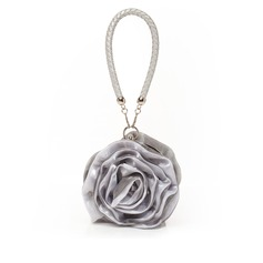 Unique Satin With Flower Wristlets/Bridal Purse