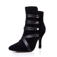 Real Leather Spool Heel Ankle Boots shoes