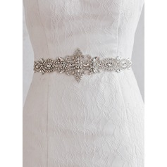 Gorgeous Satin Sash With Rhinestones (015080842)