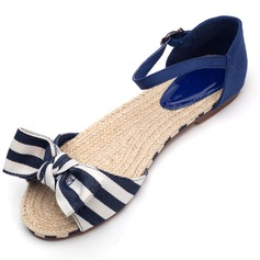 Cloth Flat Heel Sandals Flats With Bowknot shoes