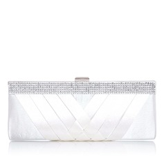 Fashional Polyester With Rhinestone Clutches