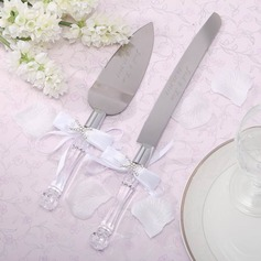 Personalized Stainless Steel Serving Sets With Diamond Rhinestone/Bow (118030769)