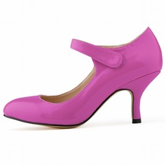Leatherette Kitten Heel Pumps shoes
