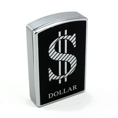 Personalized Dollar Design Stainless Steel Electronic Lighter