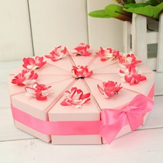 Pyramid Favor Boxes With Flowers/Ribbons