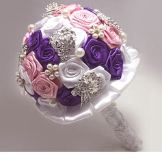 Charming/Sweet Round Satin Bridal Bouquets