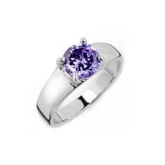 Beautiful Zircon/Platinum Plated Ladies' Rings