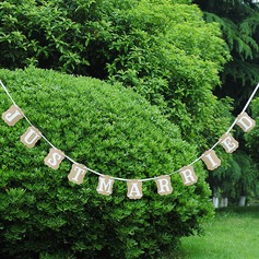"""Just Married"" Kraft Paper Photo Booth Props/Banner"
