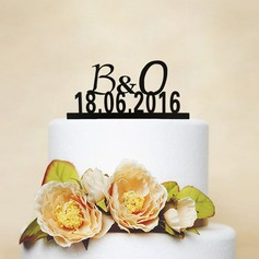 Personalized Letter Wood Cake Topper