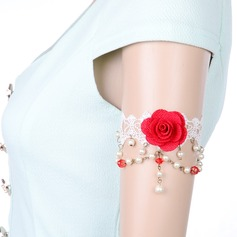 Shining Lace With Imitation Pearls Ladies' Body Jewelry