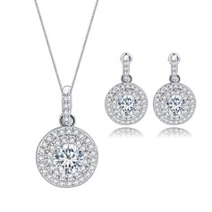Luxurious Copper/Zircon Women's/Ladies' Jewelry Sets