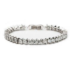 Charming Zircon/Platinum Plated Ladies' Bracelets