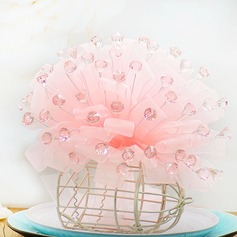 Lovely Round Organza/Acrylic Bridal Bouquets