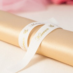 Personalized Thread/Gilding Letter Satin Ribbon
