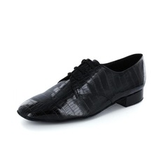 Men's Leatherette Heels Pumps Modern With Lace-up Dance Shoes
