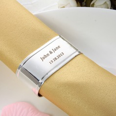 Personalized Simple Design Zinc Alloy Napkin Rings (118030927)