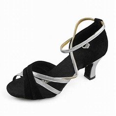 Satin Heels Sandals Latin Dance Shoes With Ankle Strap (053013125)