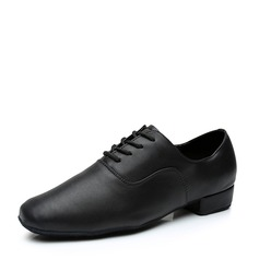 Men's Leatherette Latin Modern Jazz Ballroom Party Tango With Lace-up Dance Shoes