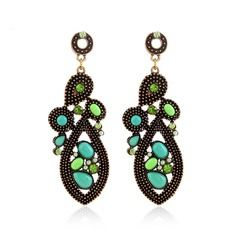 Chic Alloy Rhinestones Plastic With Rhinestone Ladies' Fashion Earrings