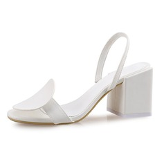 Women's Leatherette Chunky Heel Sandals Slingbacks shoes (087092463)