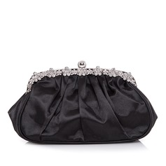 Charming Satin With Ruffles Clutches