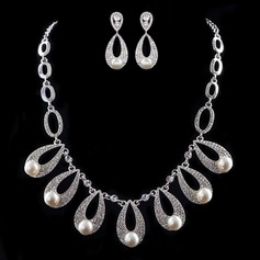 Attractive Alloy/Pearl Ladies' Jewelry Sets