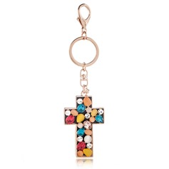 Religious Keychains With Crystal