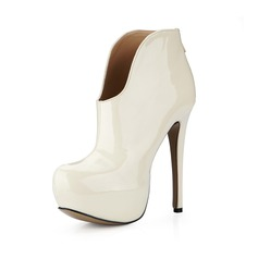 Patent Leather Stiletto Heel Platform Ankle Boots shoes
