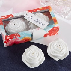 Lovely Rose Ceramic Salt & Pepper Shakers